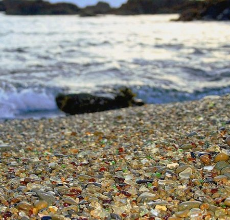 Стеклянный пляж – Glass Beach, Fort Bragg, California, USA